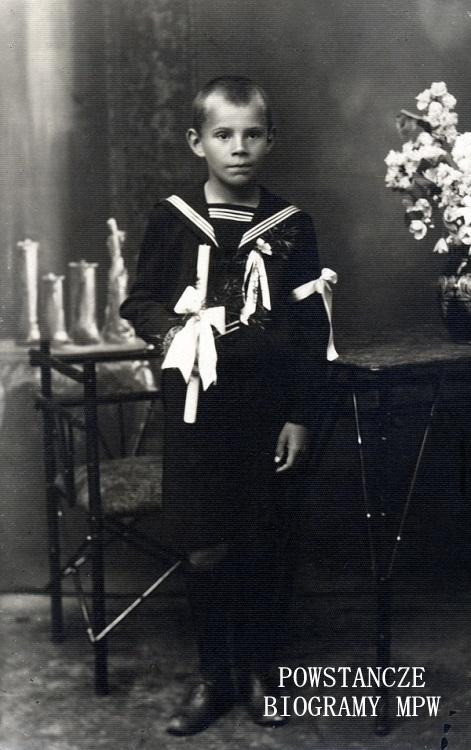 Wiesław Michel - zdjęcie komunijne. Fot. z archiwum rodzinnego udostępnił p. Andrzej Michel