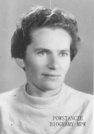 """Katarzyna Frezer """"Kaśka"""" (1925-2001) Fot. powojenne, <i>   deklaracja ZBoWiD</i>"""