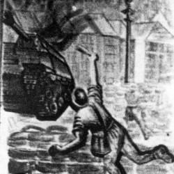 Sierpień/wrzesień 1944. Plakat powstańczy autorstwa Jerzego Tomaszewskiego. Fot. MPW