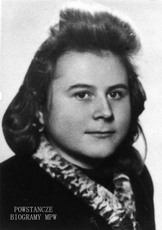 """Zofia Irma Zawadzka ps. """" Pups"""" (1926-1944) Fot. AR MPW"""