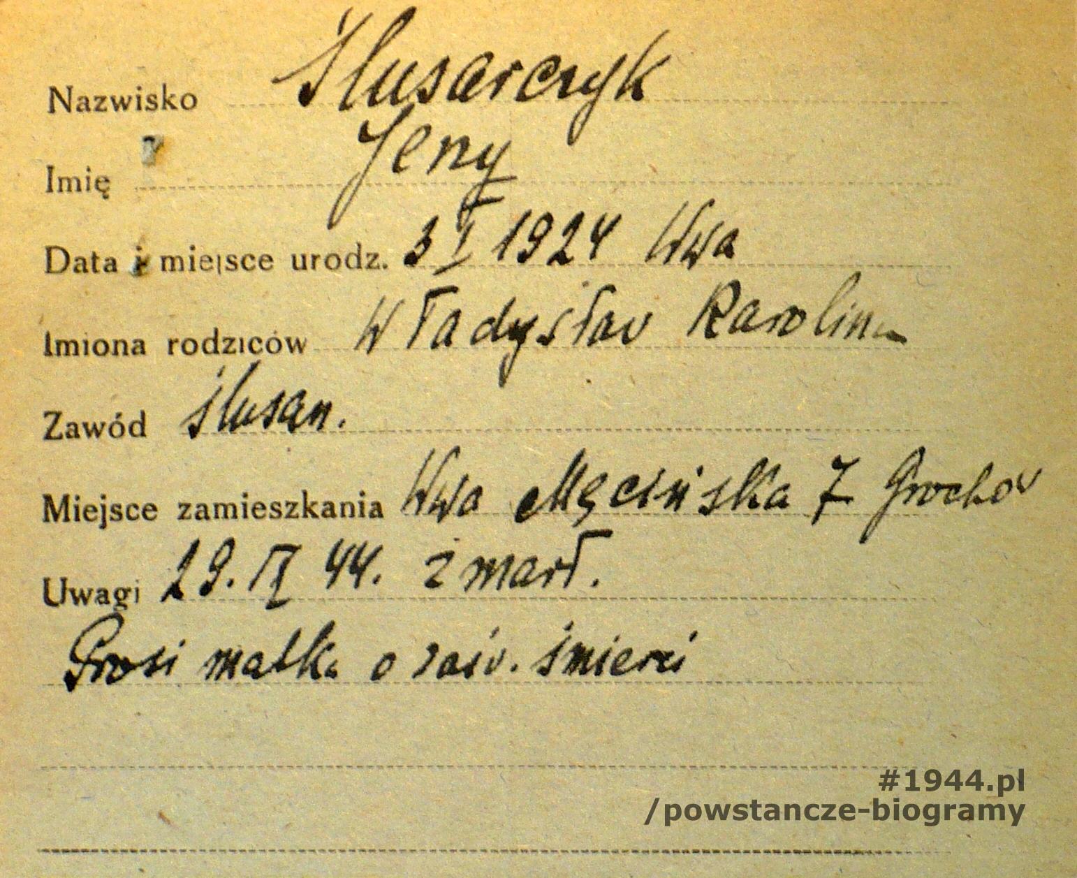 Źródło: Polski Czerwony Krzyż - kartoteka ogólna