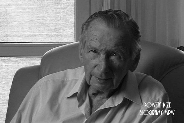 Jan Płytnik w 2009 roku podczas nagrywania wywiadu dla Archiwum Historii Mówionej. Fot. AHM/MPW