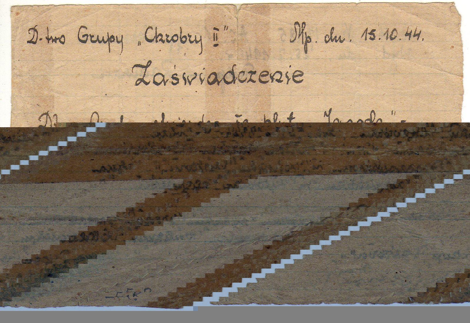 """Lipiec 1944 r.  - """"Jagoda"""" na dwa dni przed wybuchem Powstania Warszawskiego"""