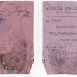 Legitymacja AK. Fot. AR MPW