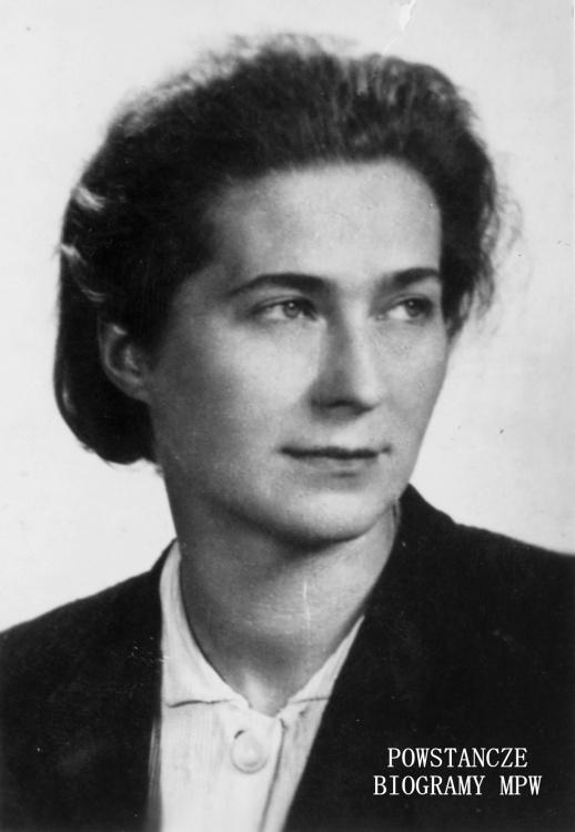"""Łucja Ammer ps. """"Helena"""" (1915-2004) Na zdjęciu w końcu lipca 1944 r.  Fot. AR MPW"""