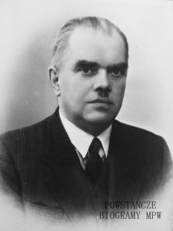"""por. Szczęsny Tadeusz Płoński ps. """"Tadeusz"""" (1893-1948). Fot. z archiwum rodzinnego, udostępniła p. Ewa Płońska - Hyjek"""