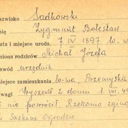 Polski Czerwony Krzyż - kartoteka