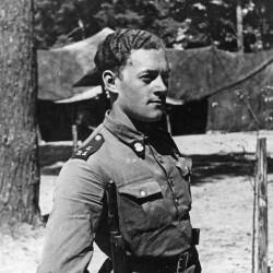 Rajmund Łaszczyński podczas szkolenia w Junackim Hufcu Pracy - rok 1939