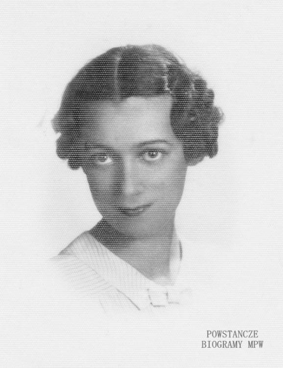 """Elżbieta Jasińska """"Marta"""" (1916-1944). Fot. z archiwum rodzinnego udostępnione przez Ewę Rachoń z domu Smólską"""