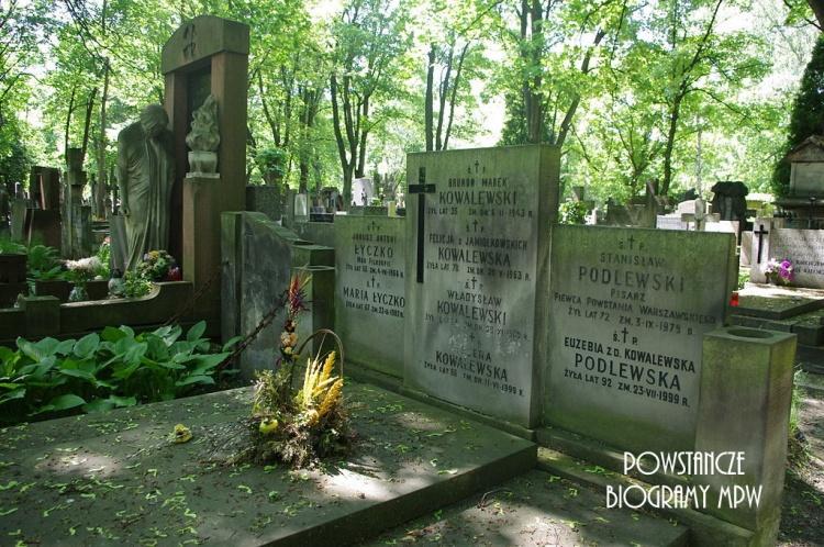 Grób Stanisława Podlewskiego na Cmentarzu Powązkowskim w Warszawie. Fot. Mateusz Opasiński, źródło <i>Wikipedia</i>