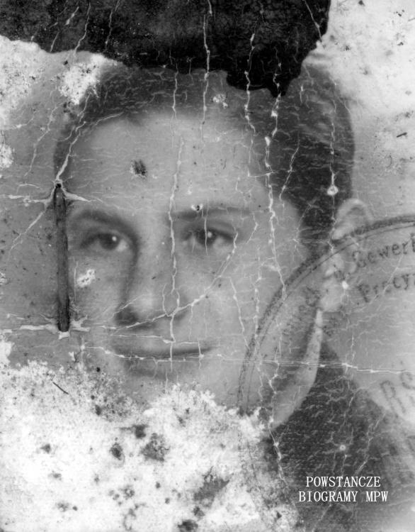 """Stanisław Malkiewicz """"Andrzej Tarnawa"""" Fot. legitymacyjne z roku 1943"""
