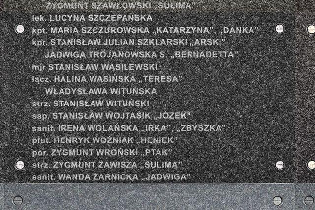 Nazwiska poległych Władysławy i Stanisława Wituńskich na Murze Pamięci MPW. Fot MPW