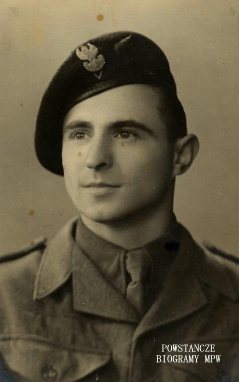 """Stanisław Zdziennicki ps. """"Szablewski"""" - Włochy, 1945/1946 rok. Fot. z archiwum Pawła Zdziennickiego"""