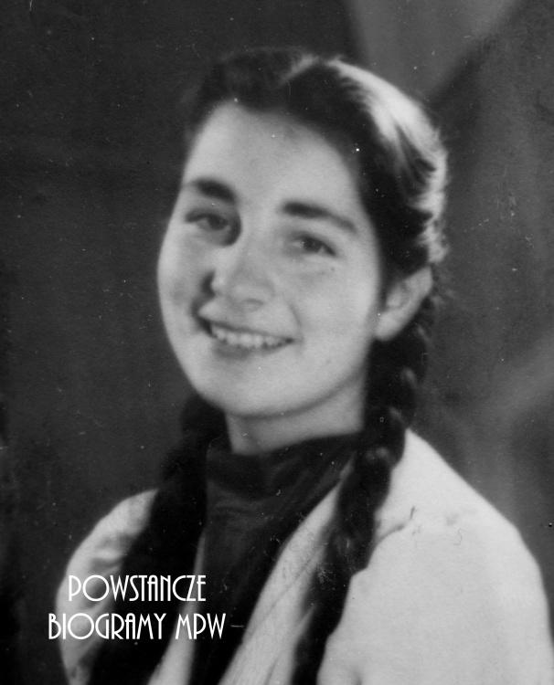 """Teresa Maria Hulewicz """"Bożena"""" (1921-1944) Fot. AR MPW"""