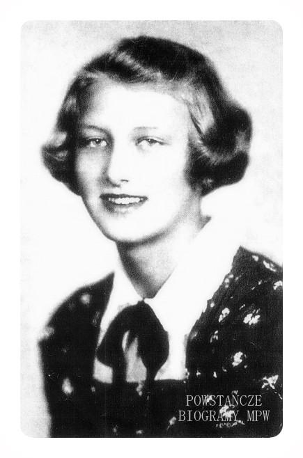 "Maria Magdalena Morawska  ""Magda"", """"Królewna"", ""Magdalena"" (1922-1944). <i>Fot. :  ŚZŻAK - Okręg Wielkopolska</i>"