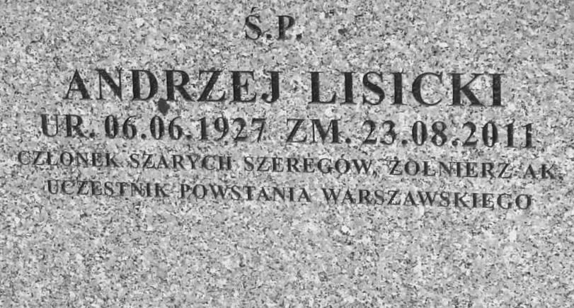 Powązki Wojskowe. Fot. udostępniła p. Beata Trzcińska