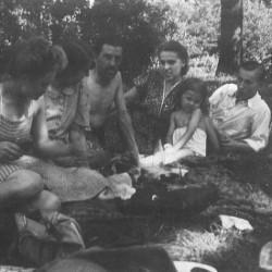 Stefan z siostrą Stanisławą Mikołajewską - Bielany 1942 r.