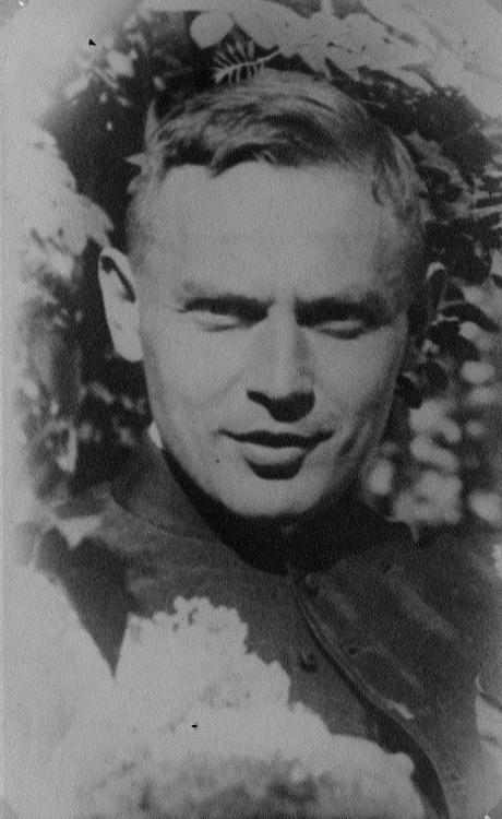Stefan Piotrowski jako podchorąży rezerwy artylerii