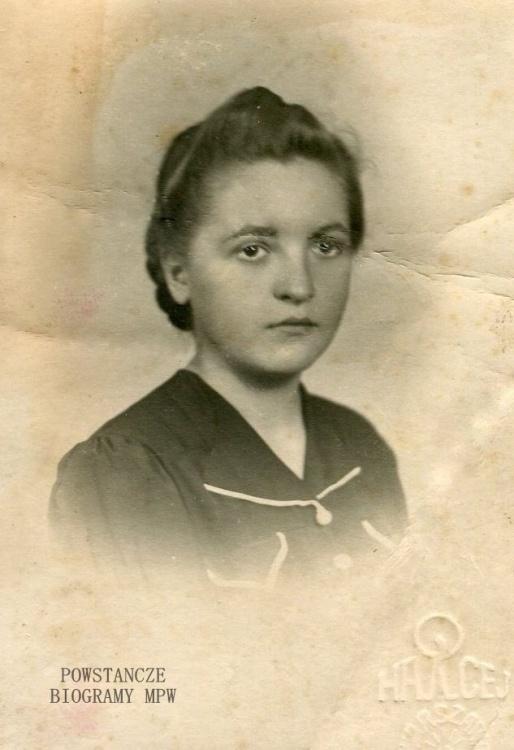 """Danuta Gruszczyńska ps. """"Śmiała"""" (1924-1953) Fot. z archiwum rodzinnego  Iwony Kołowieckiej"""