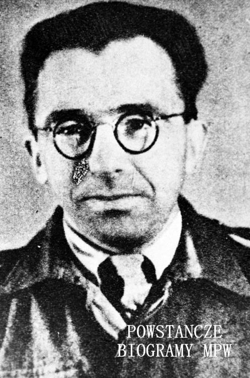 """por. Stanisław Antoni Szymczyk """"Jacek"""" (1910-1977), dowódca kompanii  """"B-1"""" w batalionie """"Bałtyk"""" Pułku AK """"Baszta"""". Fot. ze zbiorów Muzeum Powstania Warszawskiego, sygn. MPW-IH/1036"""