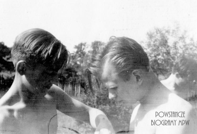 """Andrzej Przedpełski """"Wrona"""" i Witold Henneberg."""