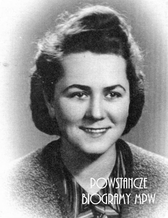 """Hanna Laskowska - Barciszewska """"Małgorzata"""" (1921-1995). Fot. ze zbiorów Muzeum Powstania Warszawskiego, sygn. P/3956"""