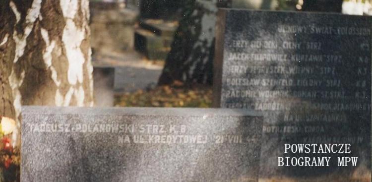 Mogiła na Cmentarzu Wojskowym na Powązkach. Fot. z archiwum A.Dławichowskiego/MPW