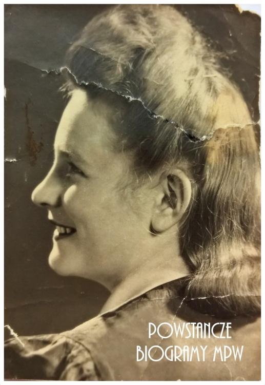 """Krystyna Janina Paprocka - Bielewicz """"Kryśka"""". Fot. z archiwum rodzinnego Marleny Niemiec"""