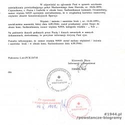 Polski Czerwony Krzyż - pismo w oparciu o L. strat PCK-24718