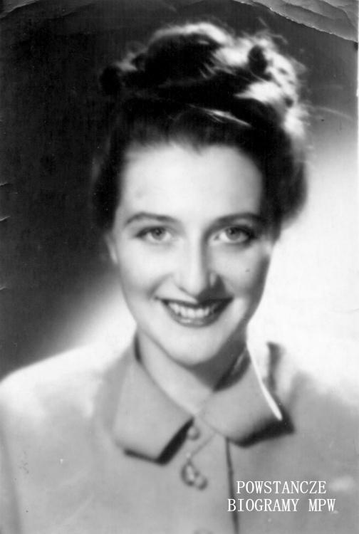 Anna Danuta Leśniewska - Sławińska (1923-2006) Fot. z archiwum rodzinnego córki