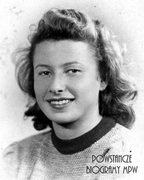"""Danuta Kaczyńska - Wesołowska """"Danka"""", """"Mina"""" (1923-2015). Fot. ze zbiorów MPW"""