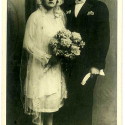 Stanisław Mijas (1898-1966) na zdjęciu z żoną Teodozją. Fot. z archiwum rodzinnego Roberta Mijasa.