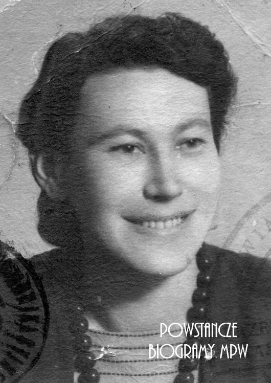 """Wanda Jadwiga Leopold z d. Iwanowska ps. """"Joanna"""" (1920-1977). Fot. AR MPW"""