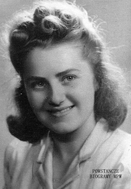 """Lucyna Walendzik ps. """"Mgła"""" (1925-1995) Fot. z archiwum Marty Bejnarowicz"""