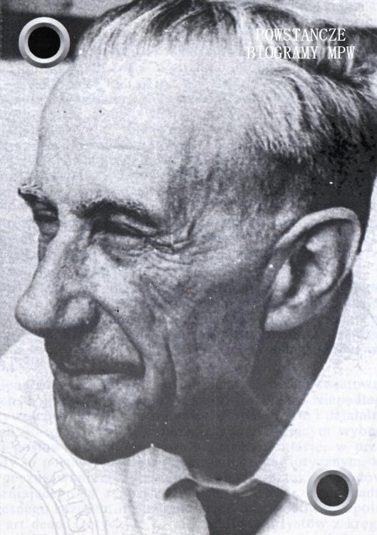 """Władysław Wincze ps. """"Jaskółski"""" (1905 - 1992) Fot. udostępnione przez Jacka Edmunda Zasadę"""