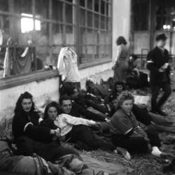 Zdjęcie wykonane po kapitulacji. Obóz przejściowy w Ożarowie Mazowieckim - 9 października 1944 r. 6 kompania batalionu