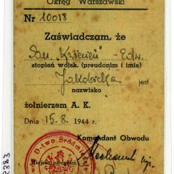 Kopa legitymacji sanitariuszki Edwardy Jakobickiej