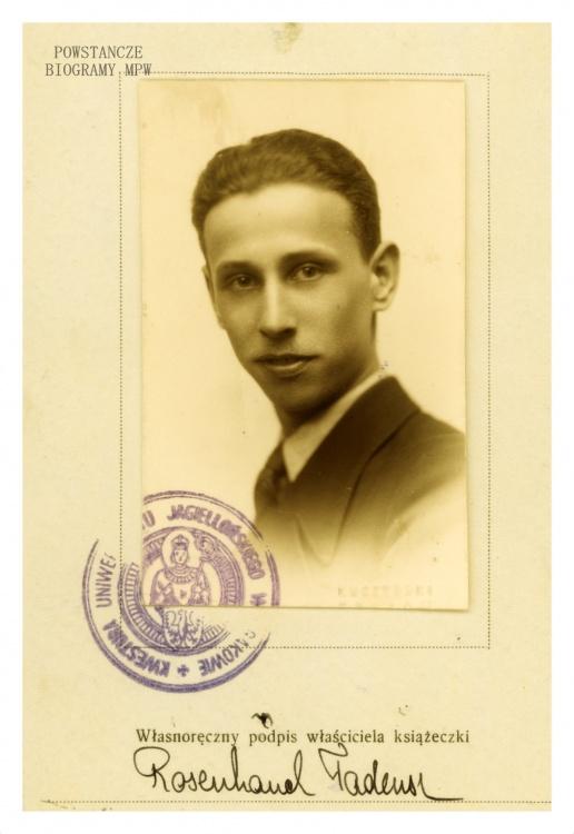 """Tadeusz Rosenhauch """"Edward"""". Fot. wykonane w 1937 roku. Archiwum rodzinne"""