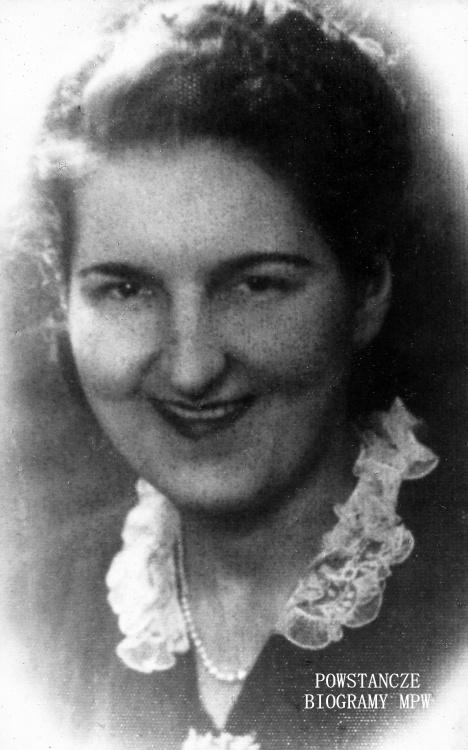 """Czesława Halina Cholewińska ps. """"Wala"""" (1909-1944). Fot. przekazana przez p. Jacka Szumańskiego"""