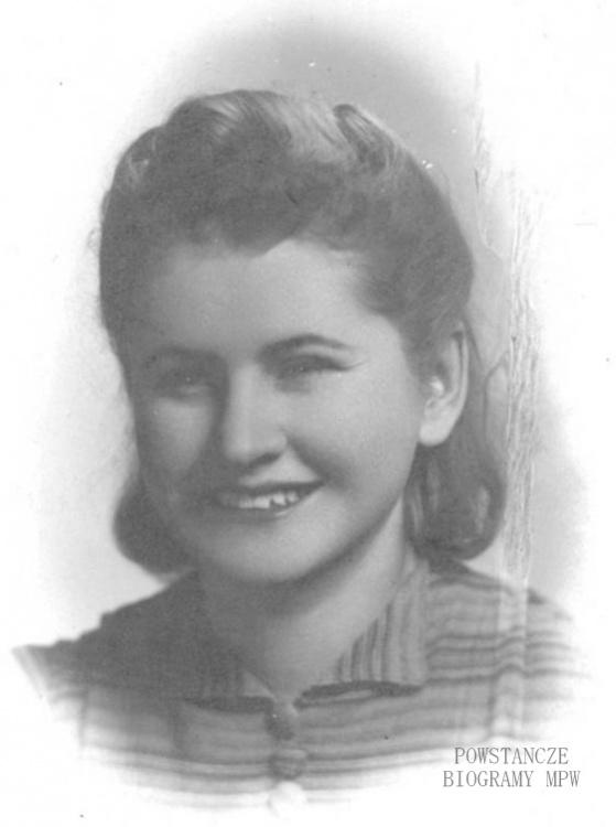 """Janina Kusior - Chmura ps. """"Lilka"""". Fot. z archiwum rodzinnego Mikołaja Chmury"""