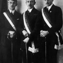 Warszawa 1924 r., stoją od lewej: Jerzy Chorzewski