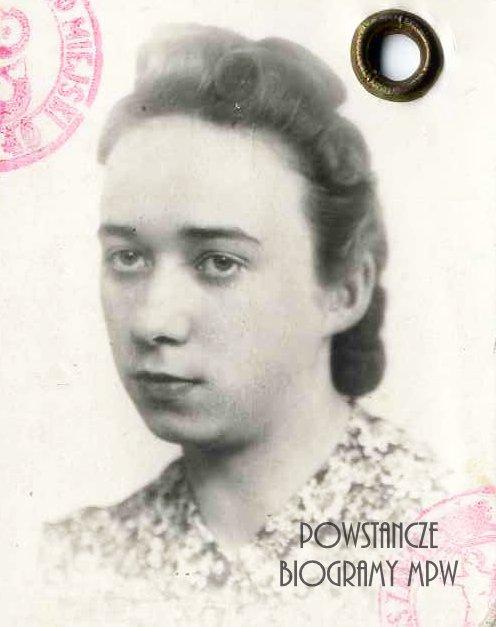 """Alicja Zofia Chodnikiewicz """"Alina"""" (1920-1997) Fot. z dokumentów z okresu okupacji niemieckiej. Ze zbiorów Muzeum Powstania Warszawskiego, sygn. P/1162"""