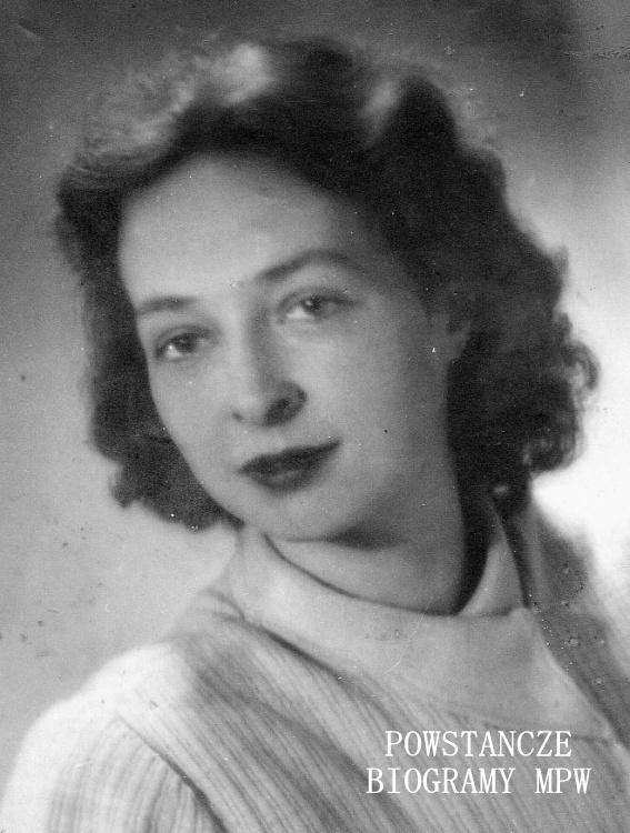 """ppor. Wanda Kruszewska-Gąssowska """"Barbara"""" (1924-1992). Fot. archiwum rodzinne"""