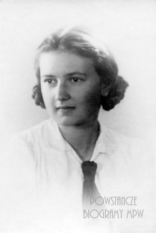 """Irena Jaczynowska """"Irka"""" (1926-1944). Fot. ze zbiorów Muzeum Powstania Warszawskiego - batalion """"Zośka"""""""
