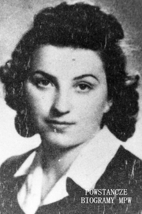 """Maria Danuta Porzezińska 'Maria"""" (1921-1944) Fot. ze zbiorów MPW, sygn. MPW-IK/2999 - zbiór Stanisława Kopfa"""