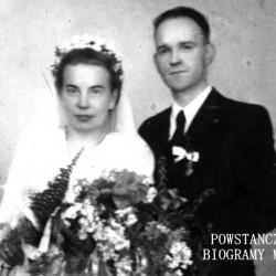 Zdzisław Zylla wraz z małżonką Stefanią z domu Seidler. Fot. z archiwum rodzinnego. Udostępnił Leopold Tupalski
