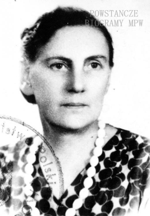 """Janina Młodzińska z d. Poszwińska, ps. """"Teresa"""" (1897-1981) Fot. ze zbiorów <i>Muzeum Dulag 121</i>"""