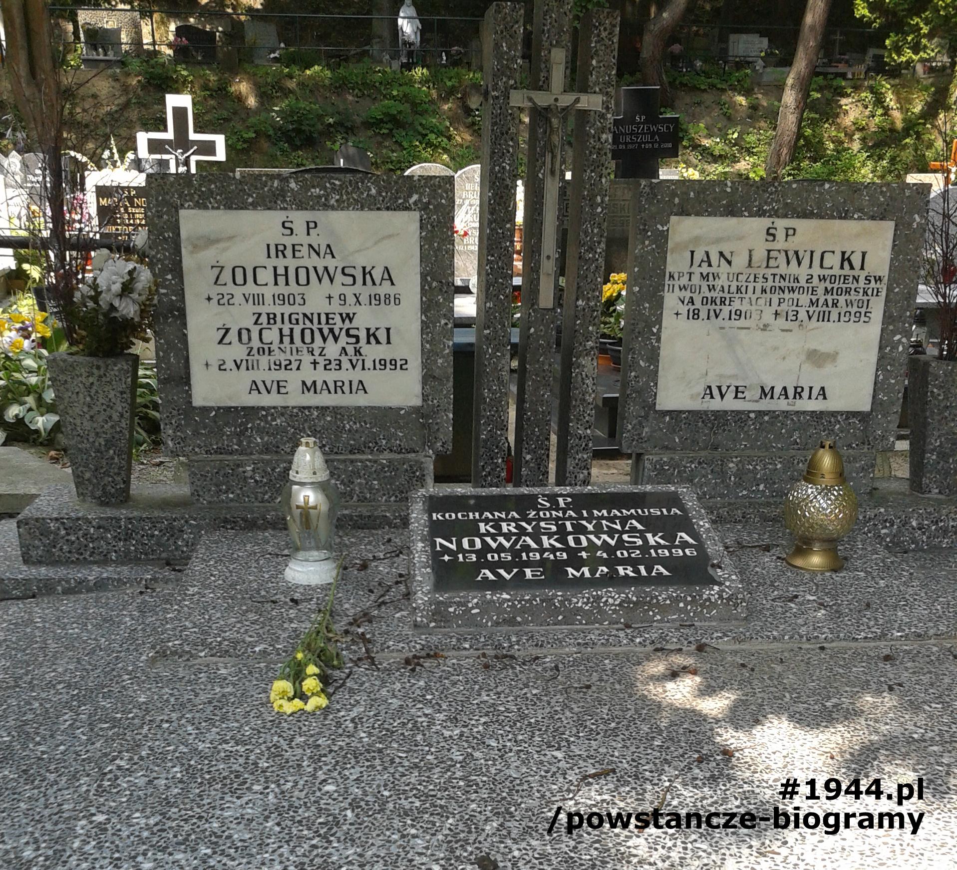 Grób Zbigniewa Żochowskiego na Witomińskim Cmentarzu Komunalnym w Gdyni. Fot. Ewa i Mariusz Skrońscy