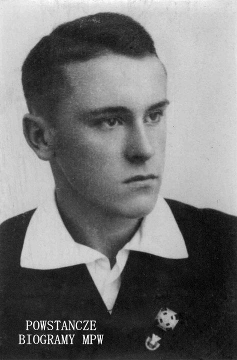 """Zygmunt Bączkowski ps. """"Lotnik"""", """"Zyga"""" (1921-1944). Fot. udostępnił p. Wojciech Mokwa"""