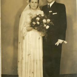 Zdjęcie ślubne - rok 1952
